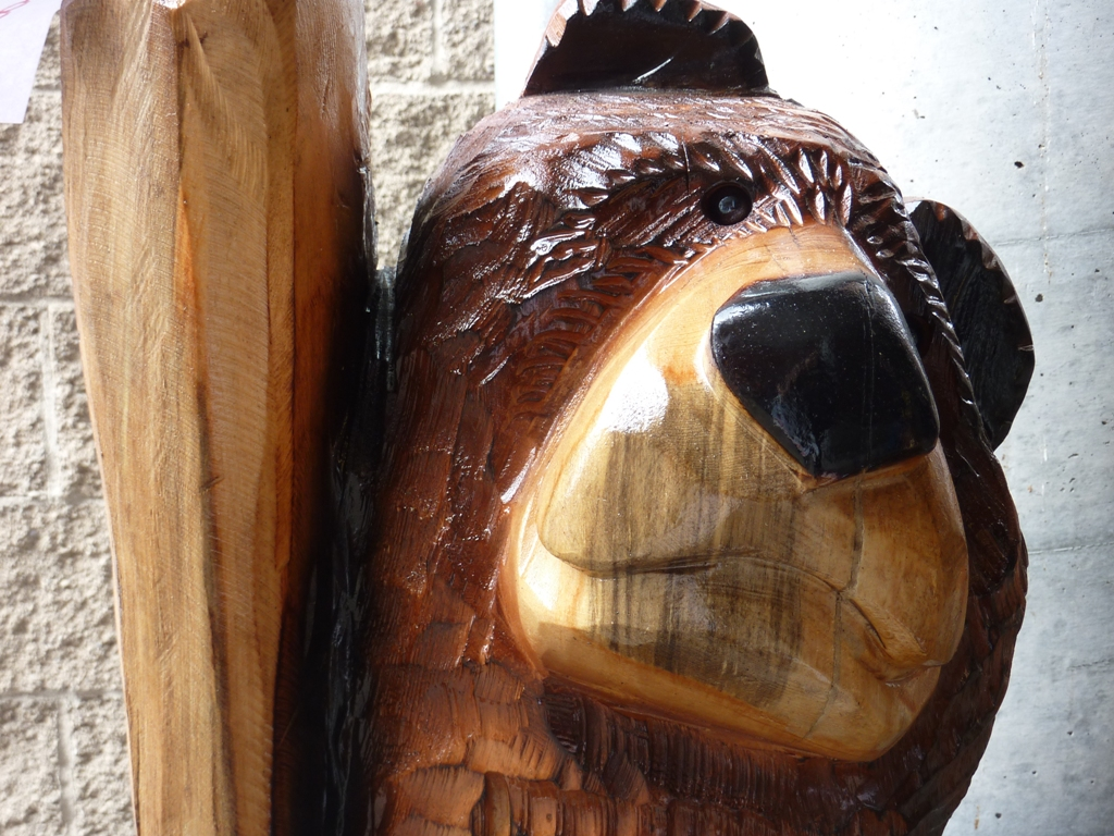 Chainsaw carvings once upon a time in the west